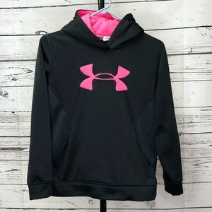 Under Armour Storm Youth Large Black Pink Hoodie